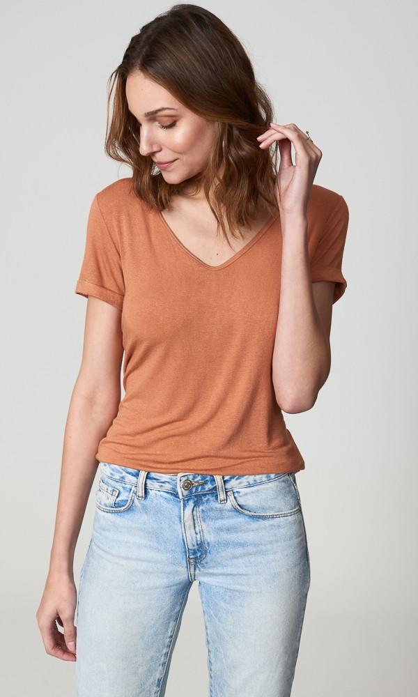 T-Shirt Linho - Argila