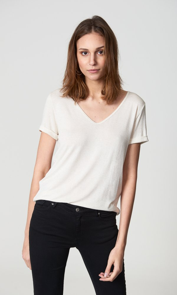 * Pré-Venda * T-Shirt Linho - Cor Nature