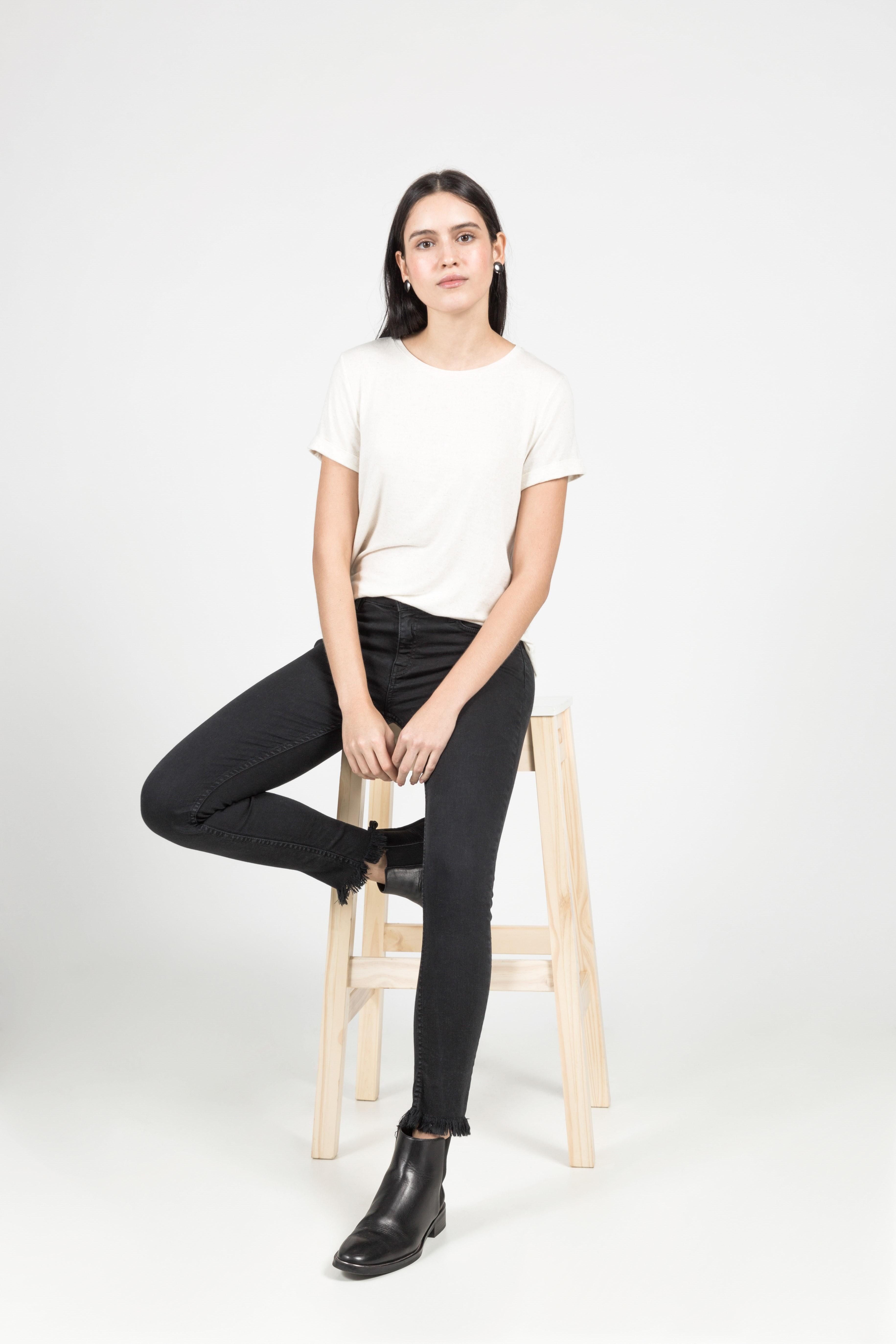 T-Shirt Gola Careca Linho - Off-White