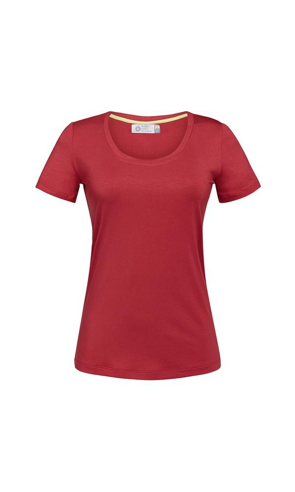 (Lançamento) T-Shirt Gola U Modal - Red Pear