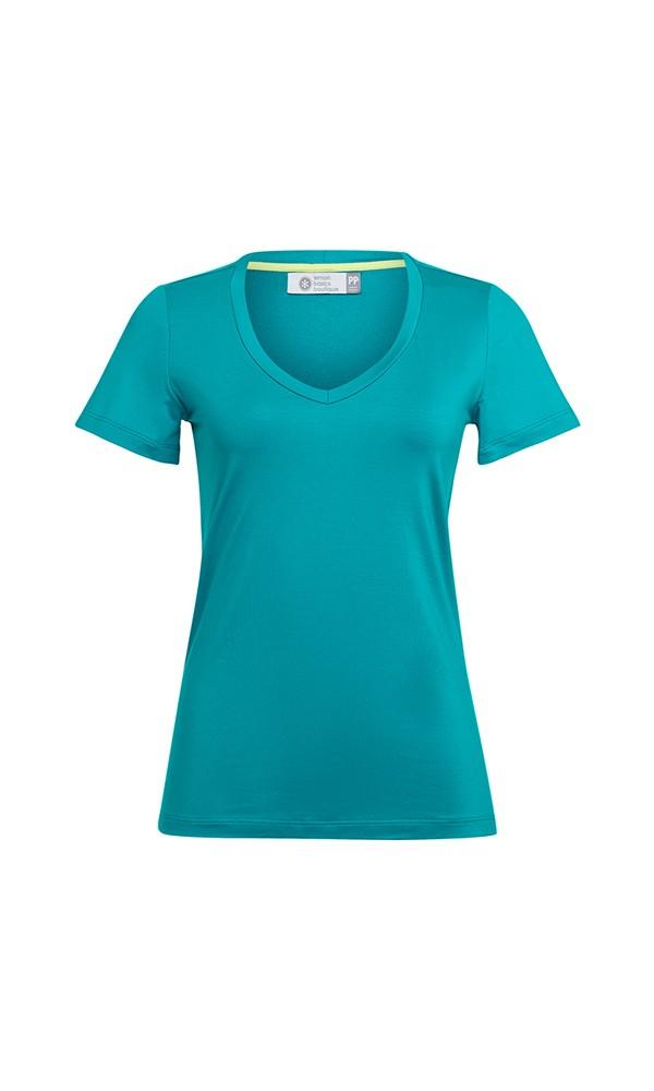 T-Shirt Gola V Modal - Azul Turquesa