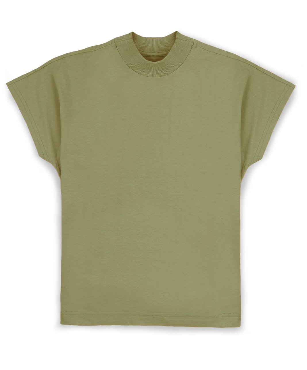 Foto do produto Camiseta Gola Alta Tingimento Natural Verde Avocado