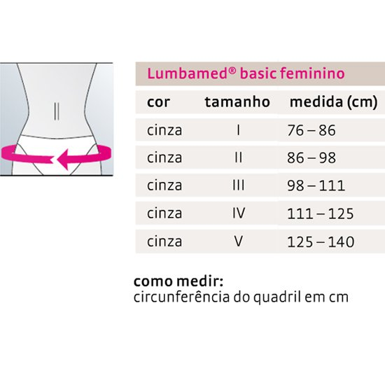 97023b078828 Cinta Lombar Ortopédica Lumbamed Basic Feminina Medi - Ortoponto