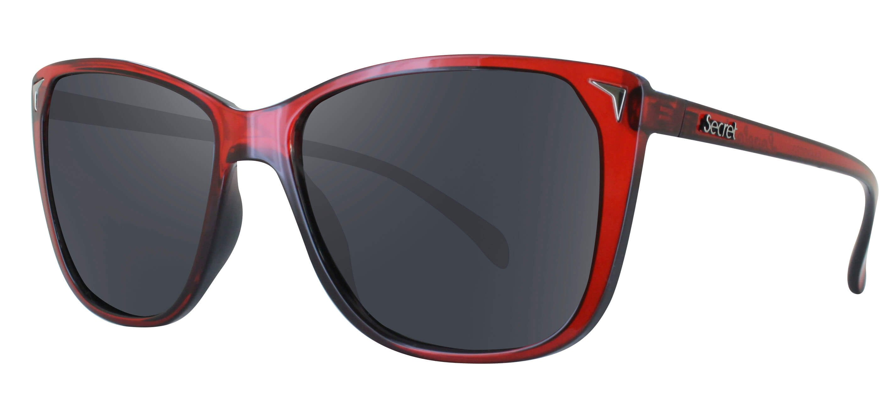 ÓC SECRET LOVEFOOL GLASSY BLACK ON RED / POLARIZED GRAY