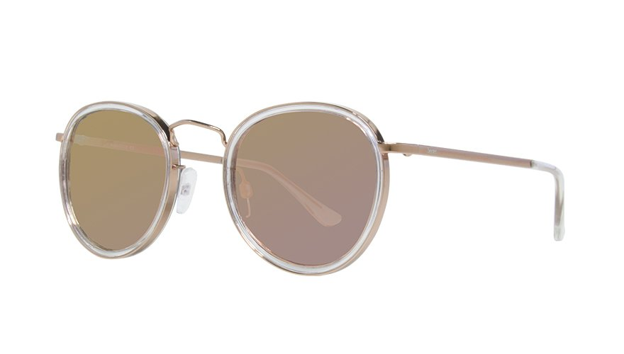MARIANA CLEAR ROSE GOLD / PINK CHROME LENS