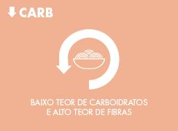 Menos carboidrato, mais proteína