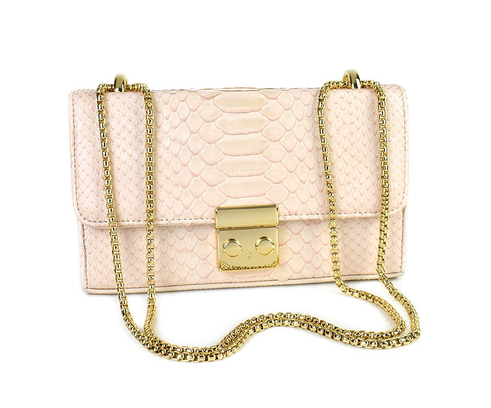 BOLSA JULIA MINI PYTHON BLUSH