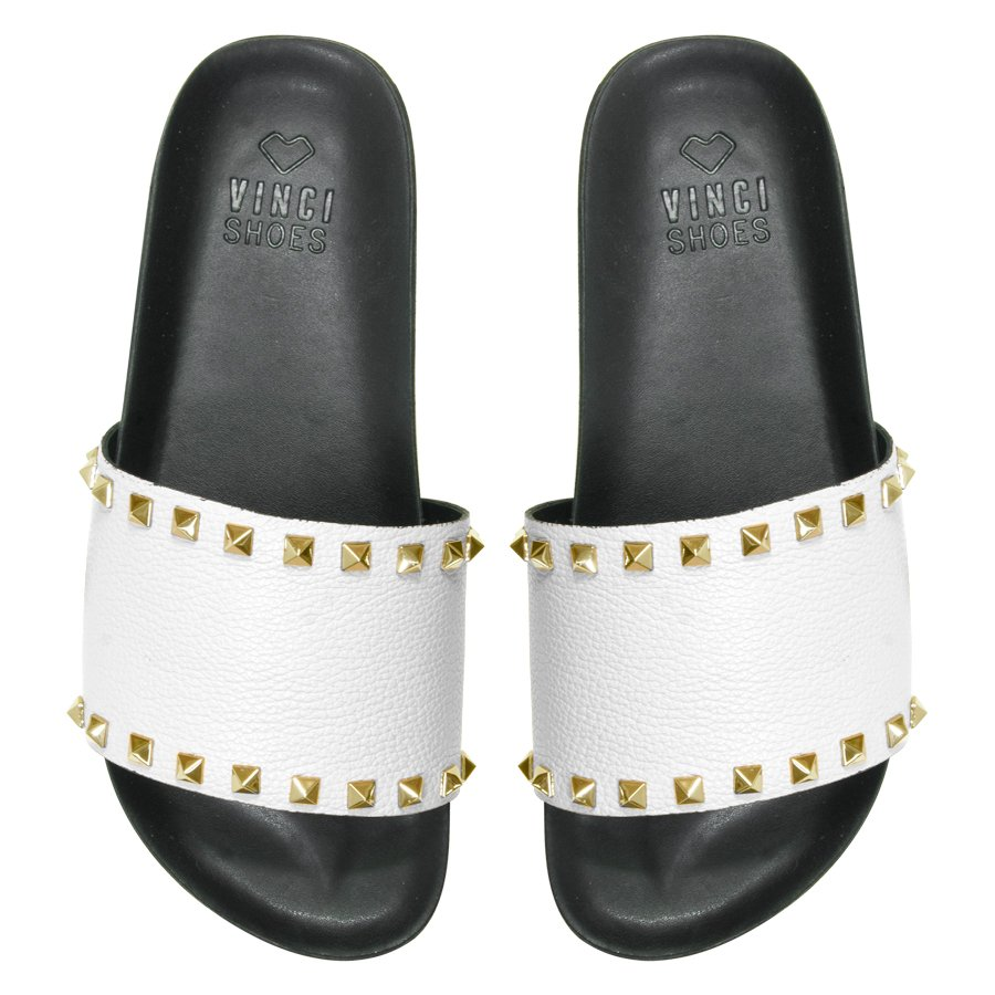 Slide Studded White