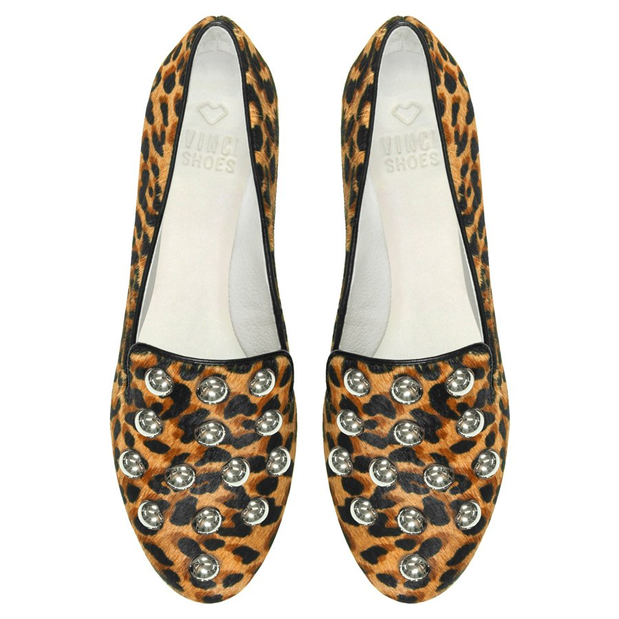 Slipper studded Animal Print