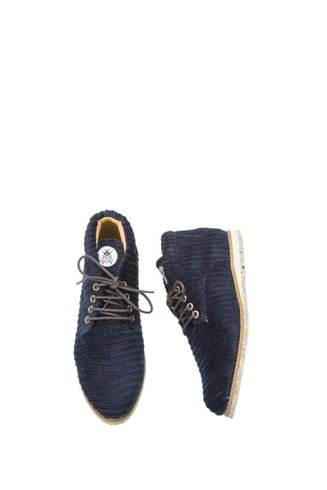 Dark Blue Velvet Desert Boot